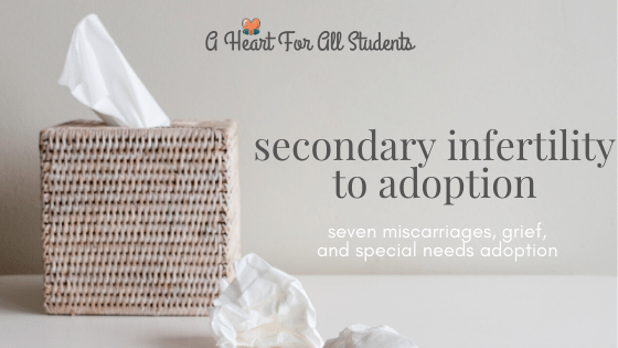 secondary infertility, miscarriage, adoption, christian mom