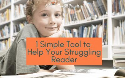 Simple Tool to Help Struggling Readers, Part 2