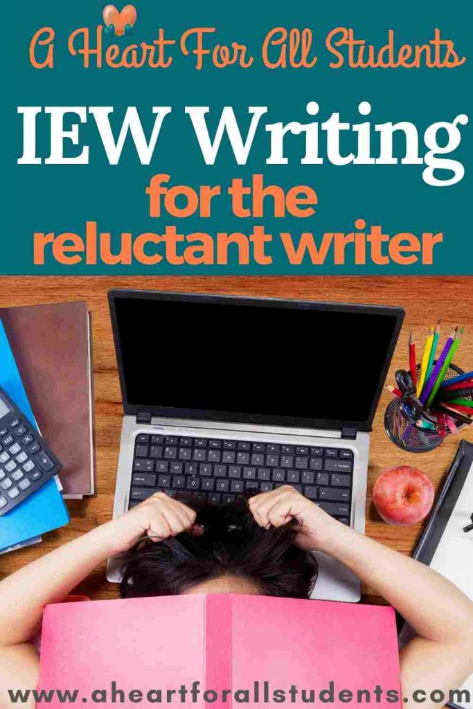homeschool writing with iew, reluctant writers, adhd, autism, dysgraphia, dyslexia