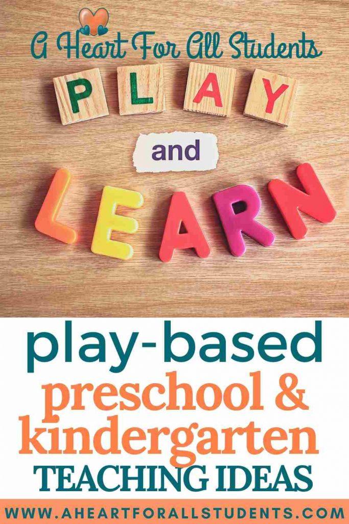 play preschool teaching ideas, play-based learning, homeschool preschool