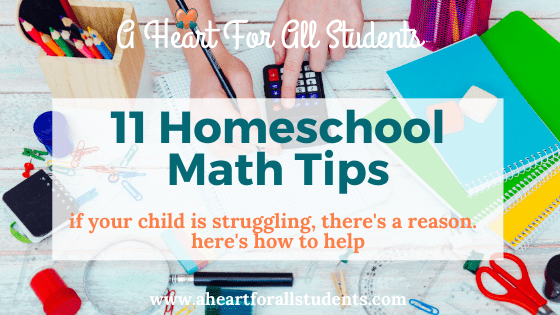 11 Tips: Homeschool Math Planning For Struggling Learners