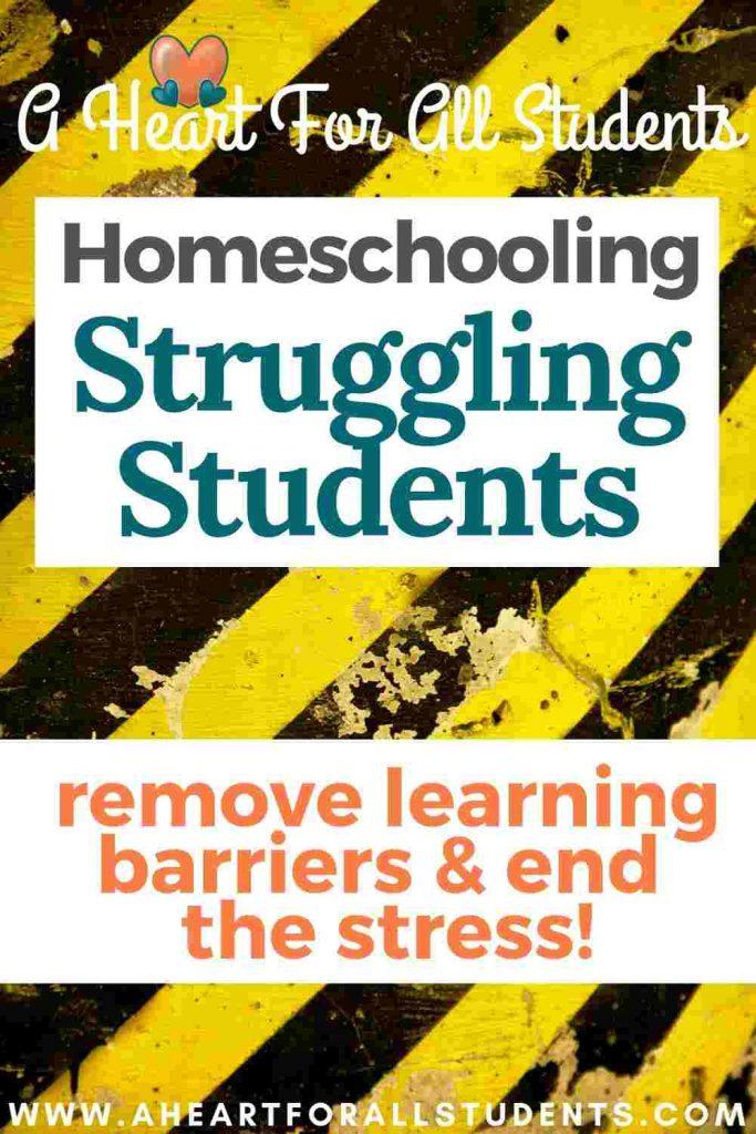 visual discrimination, homeschooling struggling students