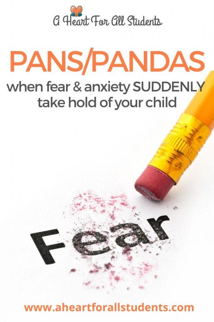 PANS/PANDA, anxious child, ocd in kids