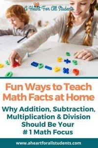math facts, homeschool math, multiplication, addition