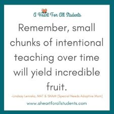 Homeschool Math Starts With Small Chunks
