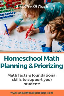 Homeschool Math Planning And Prioritization