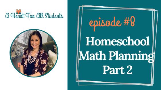 omeschool Math Planning - Part 2
