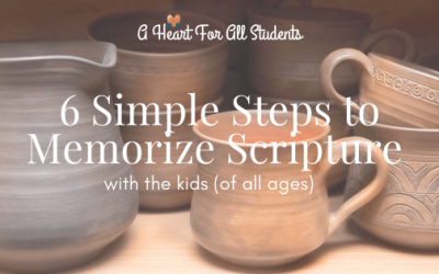6 Step Scripture Memory Plan for Kids