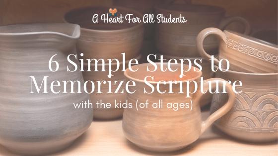 6 Step Scripture Memory Plan for Kids