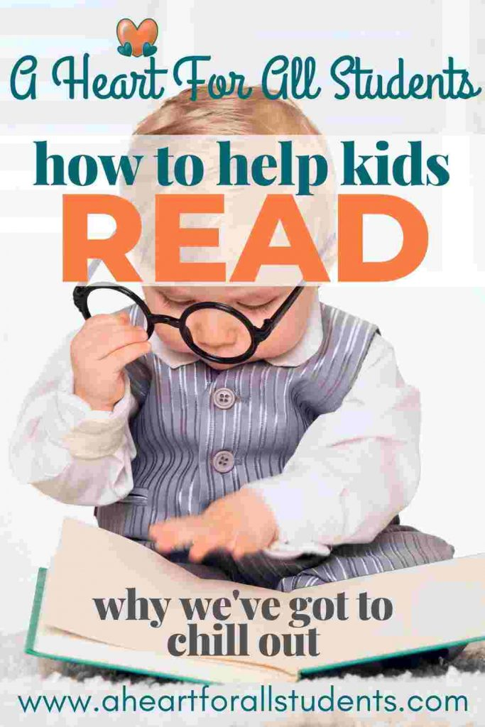 teaching kids to read stress