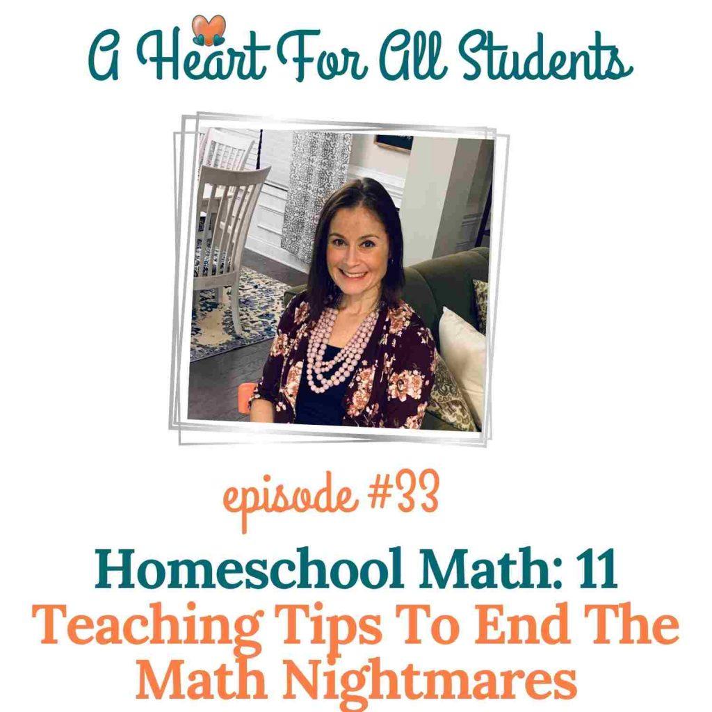 homeschool math teaching tips, adhd, autism, learning disabilities