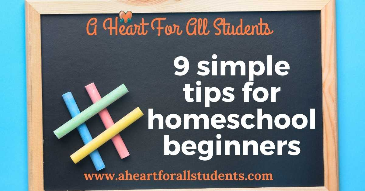 9 tips for homeschool beginners, adhd, learning differences