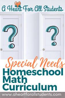 Special Needs Homeschool Math Curriculum