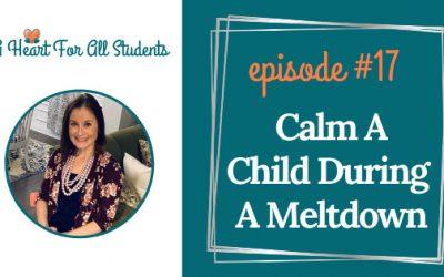 AHEART #17 | Calm A Child During Meltdown