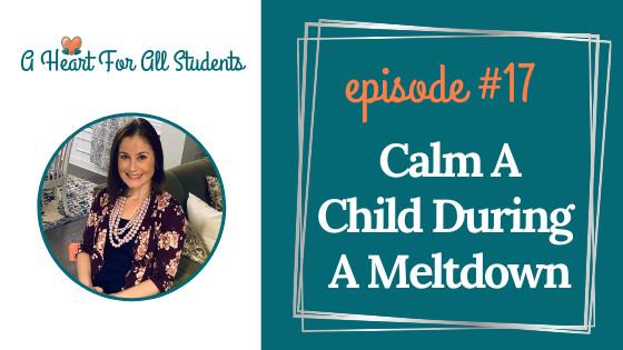Calm A Child During A Meltdown