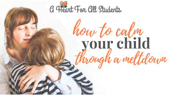 How To Calm Your Child's Meltdown