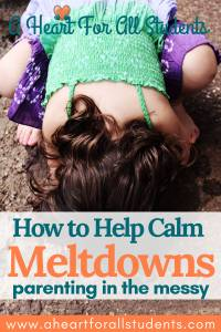 How To Help Calm Meltdowns
