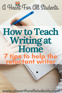 My Child Hates To Write - Homeschool Tips