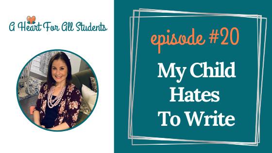 My Child Hates To Write