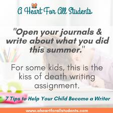 My Child Hates To Write So Open Your Journal