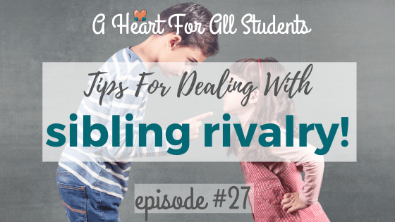 tips for how to deal with sibling rivalry