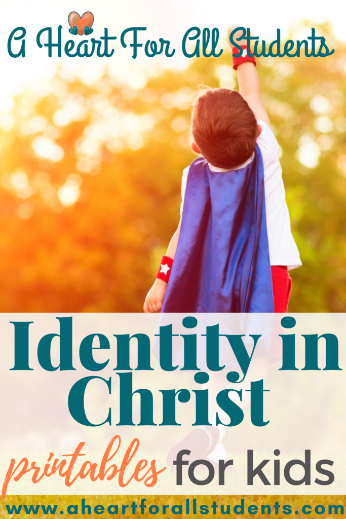 identity in christ for kids printables