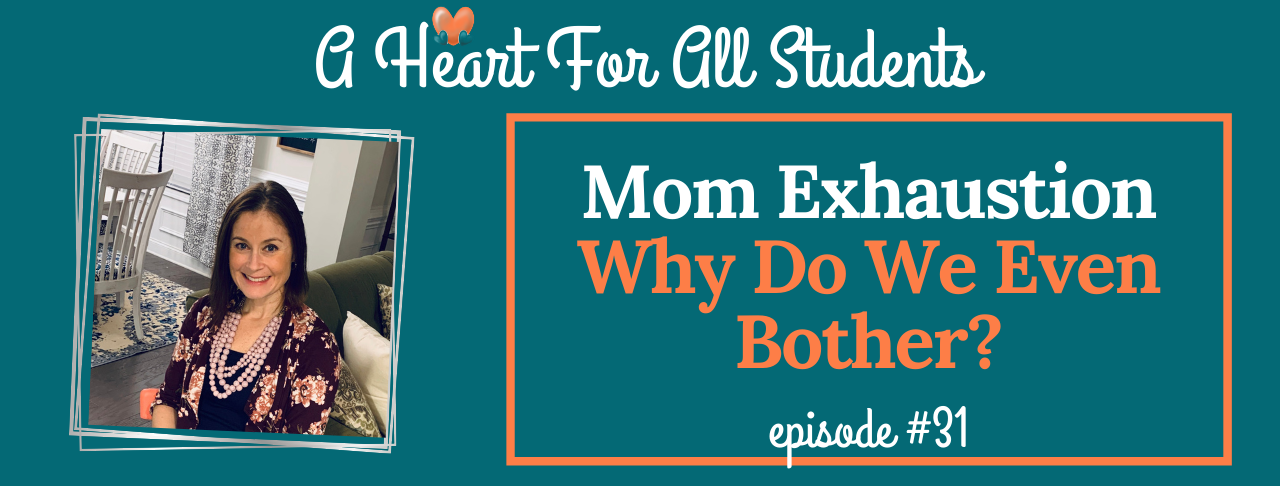 Special needs mom burnout is real & debilitating. Whether raising a child with ADHD, Autism or other executive functioning issue, the issue of mom's level of mental & physical exhaustion must be addressed. Mom shame, the church, adoption and so much more in this episode.