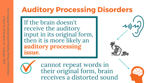 diagram of auditory processing disorder