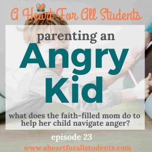 faith based discipline of an angry kid