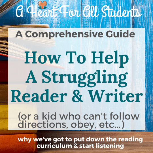 a comprehensive guide to teaching a struggling reader in homeschool