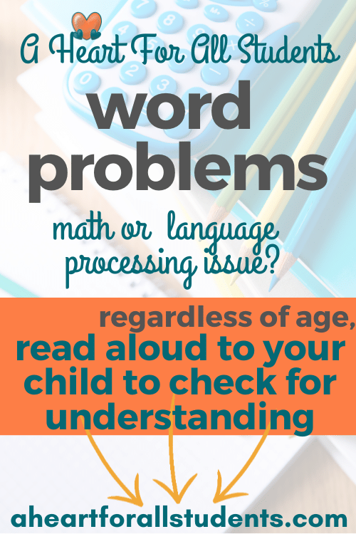 tips to help kids with word problems