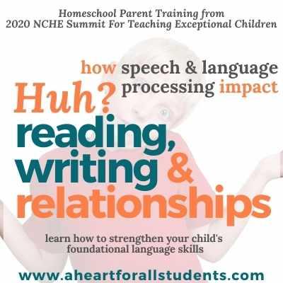 homeschool parent teacher training struggling reader