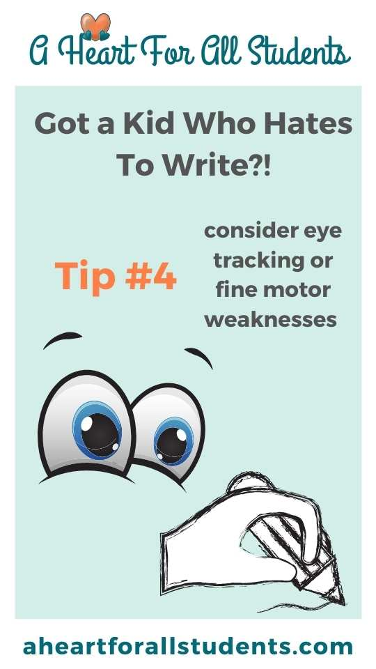 cartoon eyes fine motor writing