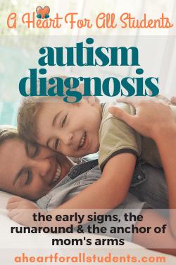 mom son snuggle autism